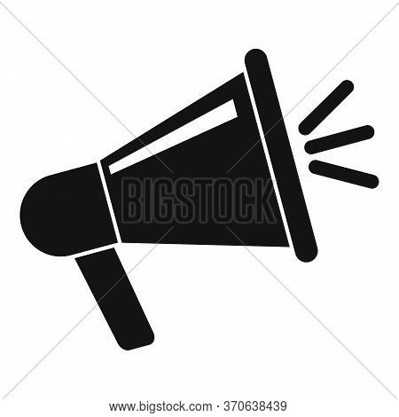 Engaging Content Megaphone Icon. Simple Illustration Of Engaging Content Megaphone Vector Icon For W