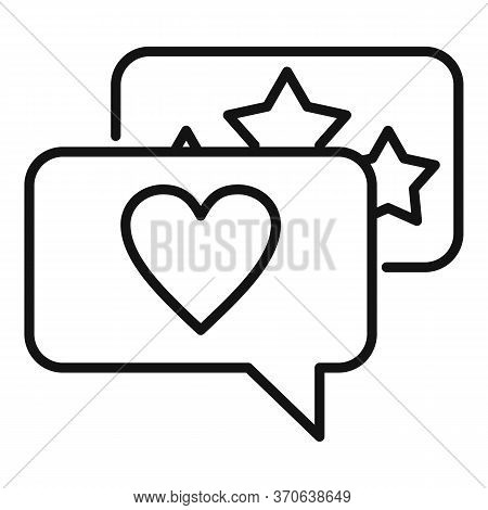 Engaging Chat Content Icon. Outline Engaging Chat Content Vector Icon For Web Design Isolated On Whi