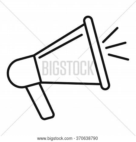 Engaging Content Megaphone Icon. Outline Engaging Content Megaphone Vector Icon For Web Design Isola