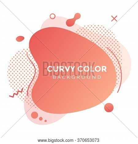 Modern Liquid Abstract Element Graphic Gradient Flat Style Design Fluid Vector Colorful Illustration