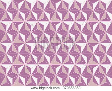 Japanese Style Retro Vintage Seamless Pattern Background Purple Geometry Polygon Star Cross Kaleidos
