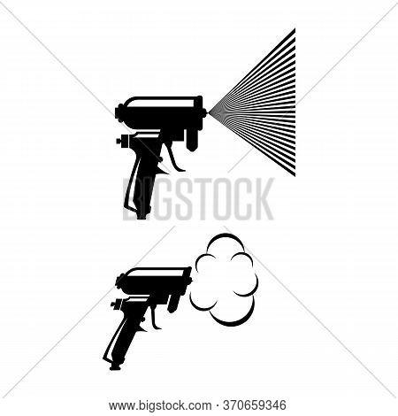 Foam Gun Insulation Logo Design Template Isolated Vector
