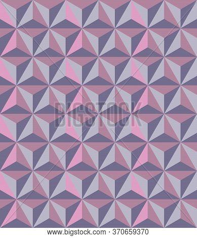 Japanese Style Retro Vintage Seamless Pattern Background Triangle Polygon Geometry Cross Kaleidoscop
