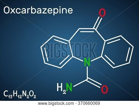 Oxcarbazepine, C15h12n2o2 Molecule. It Is Antiepileptic, Anticonvulsant Drug Used In Treatment Of Se