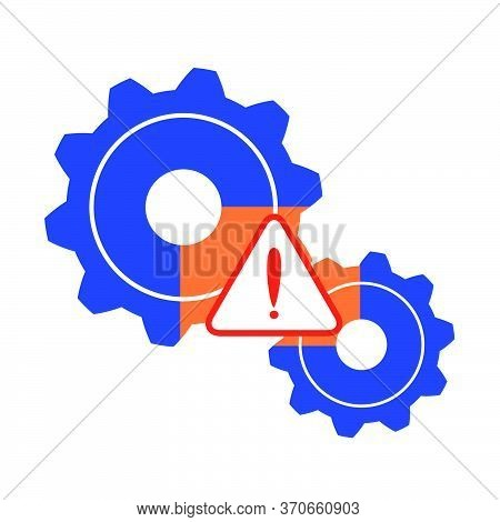 Malfunction, Problem In The System, Process. Warning.vector Concept Illustration.