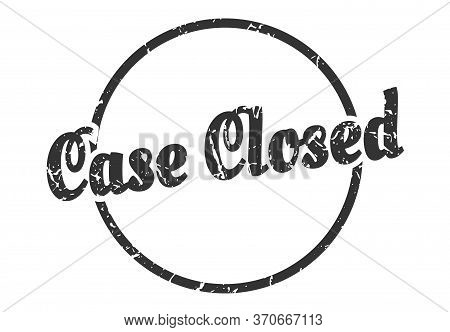 Case Closed Sign. Case Closed Round Vintage Grunge Stamp. Case Closed