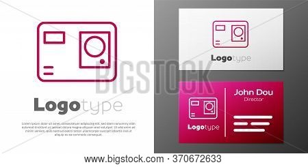 Logotype Line Action Extreme Camera Icon Isolated On White Background. Video Camera Equipment For Fi