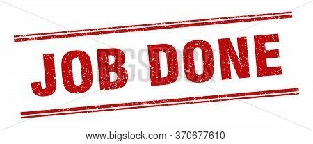 Job Done Stamp. Job Done Label. Square Grunge Sign