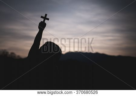 The Crucifix Is Held By Children, A Symbol Of The Blessing Of Jesus, The Symbol Of Supplication And