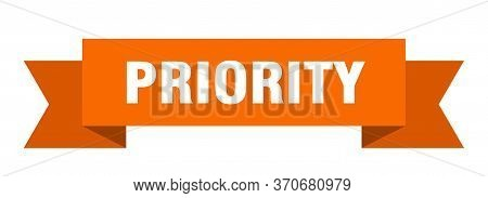 Priority Ribbon. Priority Isolated Sign. Priority Banner