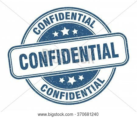 Confidential Stamp. Confidential Round Grunge Sign. Label