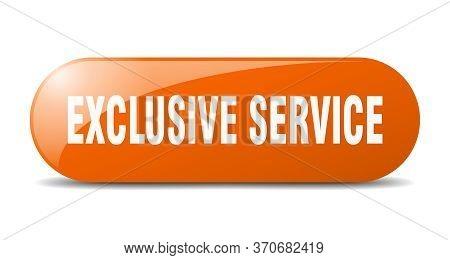 Exclusive Service Button. Exclusive Service Sign. Key. Push Button.