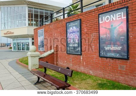 New Brighton, Uk: Jun 3, 2020:out Of Date Posters Advertise Shows Which Never Went Ahead At The Temp