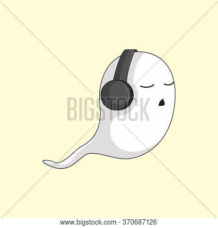 White Ghost Cartoon Character