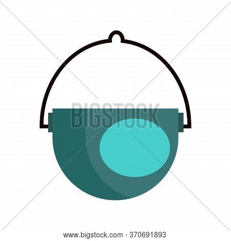 Camping Pot. Kettle, Pan, Cooking, Kitchen. Camping Concept. Illustration Can Be Used For Topics Lik