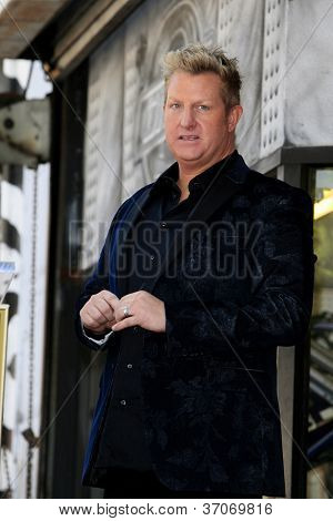 LOS ANGELES - SEP 17: Gary LeVox at a ceremony where the band Rascal Flatts receive a star on the Hollywood Walk of Fame on September 17, 2012 in Los Angeles, California