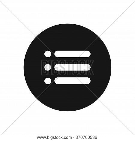 List Icon Isolated On White Background. List Icon In Trendy Design Style For Web Site And Mobile App