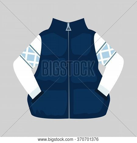 Waistcoat And Sweater Illustration. Cloth, Winter, Style. Fashion Concept. Illustration Can Be Used