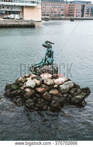 Copenhagen / Denmark - November 2019: Less Famous Landmark In Copenhagen - An Alternative Little Mer