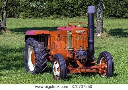 Choczewo, Pomerania, Poland - August 25: Vintage Polish Tractor Ursus C-45 On 25 August 2019 In Choc