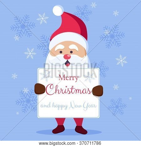 A letter to Santa Claus. Christmas Greeting Card. Merry Christmas Lettering. Merry christmas greeting card vector background. Merry christmas and happy new year