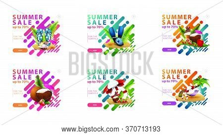 Summer Sale, Up To 70% Off, Large Collection Colorful Clickable Discount Pop Up In Liquid Modern Sty