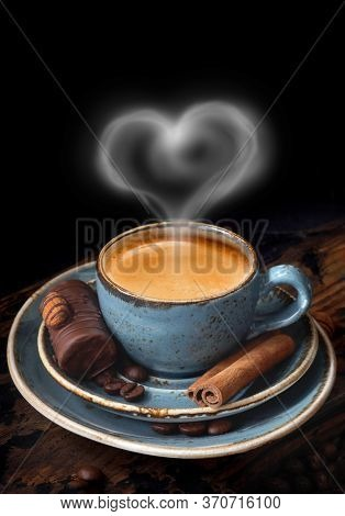 Aroma, Background, Drink, Black, Blue Coffee Cup, Breakfast, Brown, Cafe, Caffeine, Cappuccino, Clos