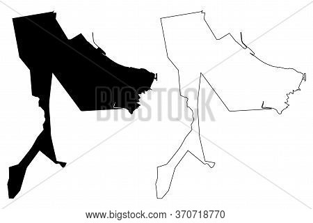 George Town City (malaysia, Penang State) Map Vector Illustration, Scribble Sketch City Of Penang Is