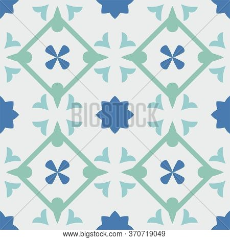 Tile Pastel Decorative Floor Tiles Vector Pattern Or Seamless Background