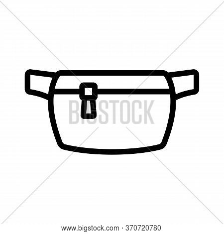 Belt Purse Accessory Icon Vector. Belt Purse Accessory Sign. Isolated Contour Symbol Illustration