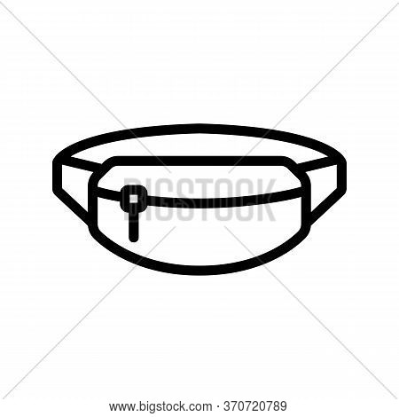 Belt Pouch Icon Vector. Belt Pouch Sign. Isolated Contour Symbol Illustration