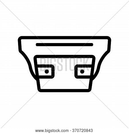 Waist Bag For Carrying Cash Icon Vector. Waist Bag For Carrying Cash Sign. Isolated Contour Symbol I