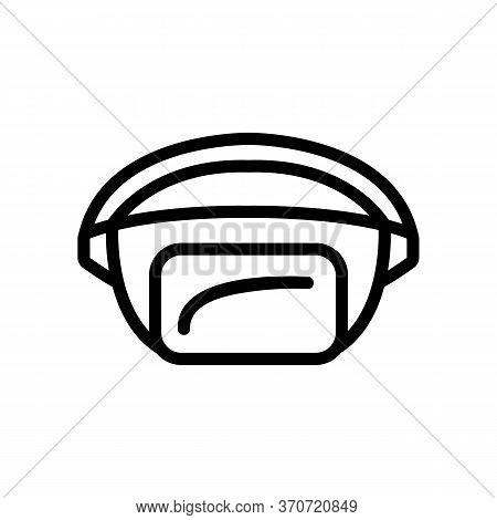 Waist Bag Purse Icon Vector. Waist Bag Purse Sign. Isolated Contour Symbol Illustration