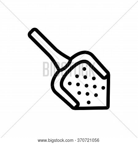 Sieve Cuisine Accessory Icon Vector. Sieve Cuisine Accessory Sign. Isolated Contour Symbol Illustrat