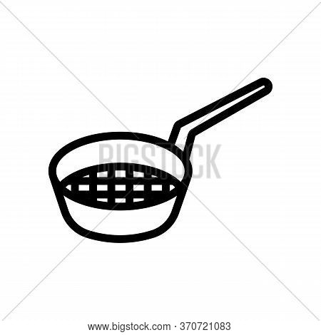 Sieve For Sifting Flour Icon Vector. Sieve For Sifting Flour Sign. Isolated Contour Symbol Illustrat