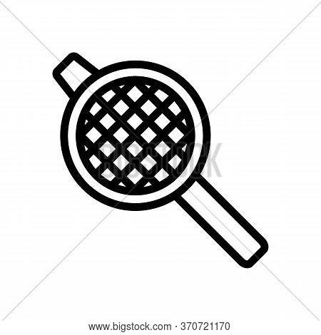 Kitchen Strainer Icon Vector. Kitchen Strainer Sign. Isolated Contour Symbol Illustration