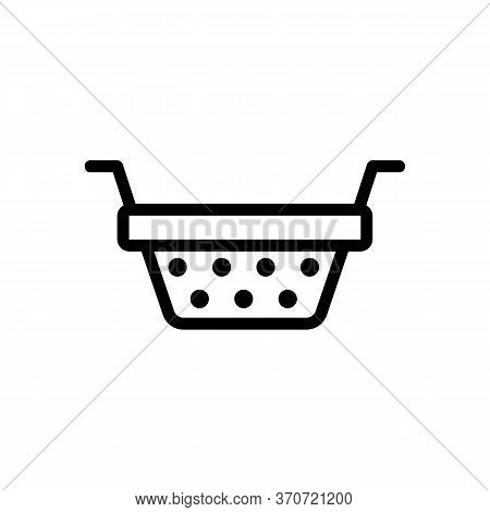 Sieve Kitchen Accessory Icon Vector. Sieve Kitchen Accessory Sign. Isolated Contour Symbol Illustrat