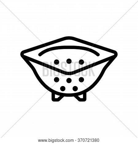 Sieve Kitchen Utensil Icon Vector. Sieve Kitchen Utensil Sign. Isolated Contour Symbol Illustration