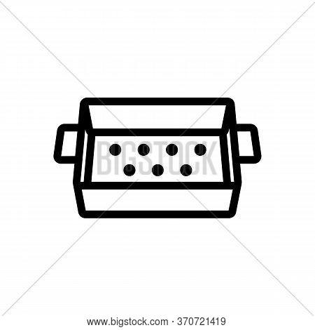 Sieve Box Icon Vector. Sieve Box Sign. Isolated Contour Symbol Illustration