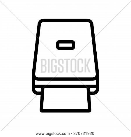 Portable Photocopier Icon Vector. Portable Photocopier Sign. Isolated Contour Symbol Illustration