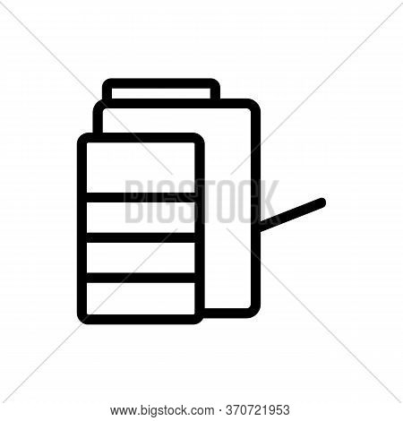 Multifunctional Photocopier Icon Vector. Multifunctional Photocopier Sign. Isolated Contour Symbol I