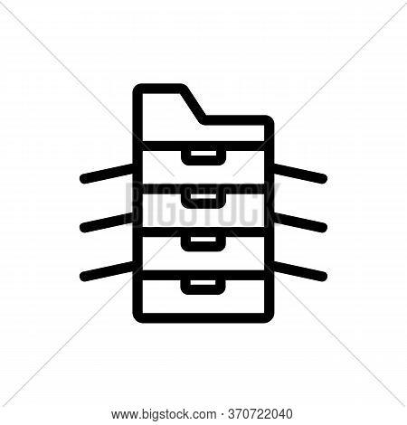 Photocopier Office Technology Icon Vector. Photocopier Office Technology Sign. Isolated Contour Symb