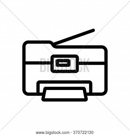 Photocopier Office Device Icon Vector. Photocopier Office Device Sign. Isolated Contour Symbol Illus