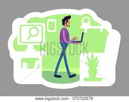 Startup Founder 2d Vector Web Banner, Poster. It Project Executive. Marketing Job. Company Ceo Flat