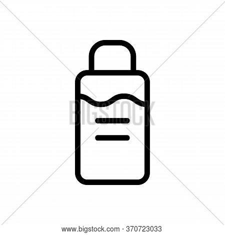 Makeup Remover Cosmetology Liquid Icon Vector. Makeup Remover Cosmetology Liquid Sign. Isolated Cont
