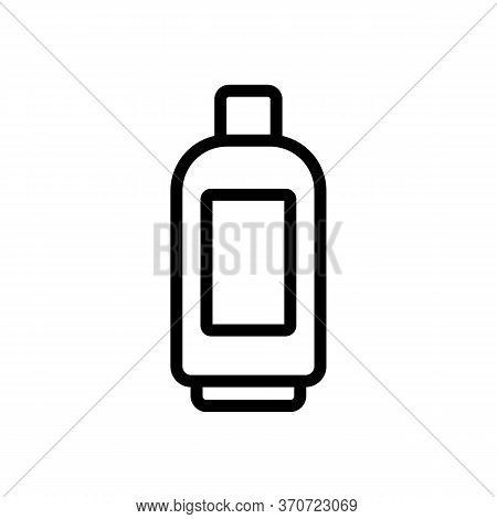Makeup Remover Gel Bottle Icon Vector. Makeup Remover Gel Bottle Sign. Isolated Contour Symbol Illus