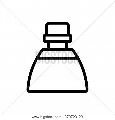 Makeup Remover Liquid Bottle Icon Vector. Makeup Remover Liquid Bottle Sign. Isolated Contour Symbol