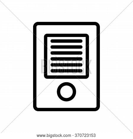 Intercom Entrance Device Icon Vector. Intercom Entrance Device Sign. Isolated Contour Symbol Illustr
