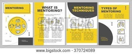 Mentorship Brochure Template. Corporate Management. Employee Guidance. Flyer, Booklet, Leaflet Print