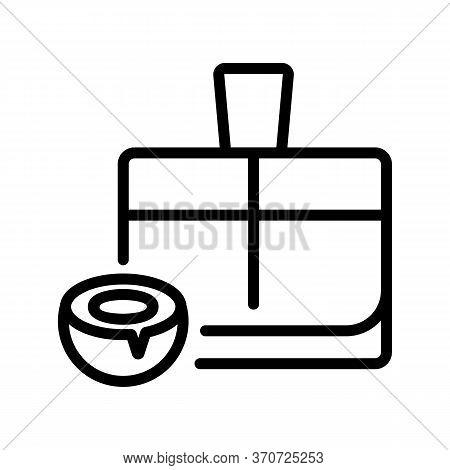 Coconut Perfume Icon Vector. Coconut Perfume Sign. Isolated Contour Symbol Illustration